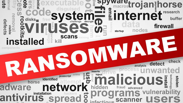 Wordcloud wordcloud tags of malware ransomware